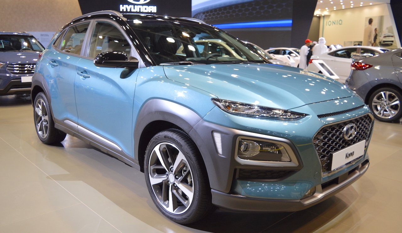 Hyundai Kona showcased at the 2017 Dubai Motor Show