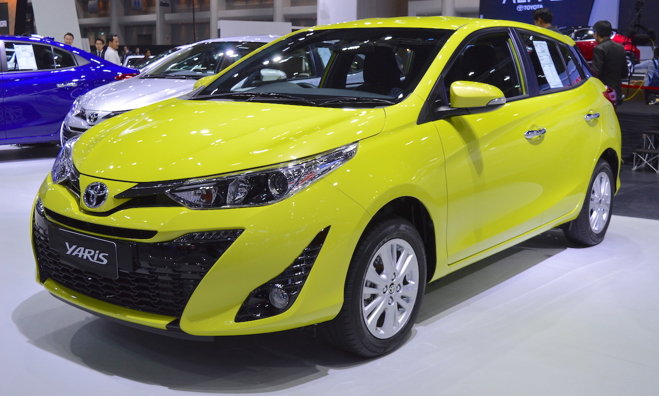 2017 thai motor expo 2018 toyota yaris facelift. Black Bedroom Furniture Sets. Home Design Ideas