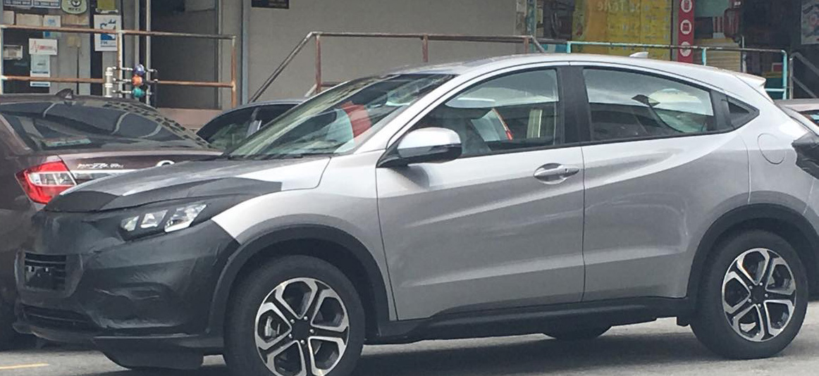 2018 Honda HR-V (facelift) spied testing for the first time
