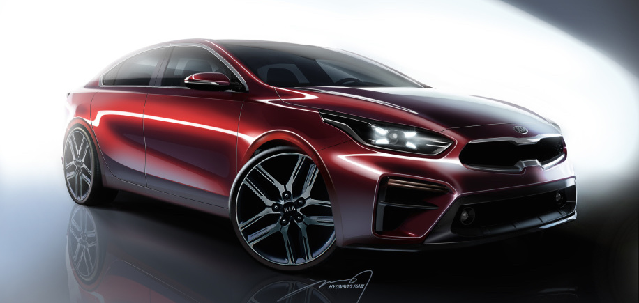 2019 Kia Forte renderings reveal a sedan with Stinger style