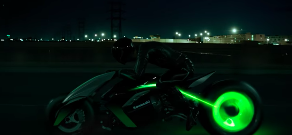 Kawasaki Concept J: Futuristic 3-wheel transforming motorcycle is back