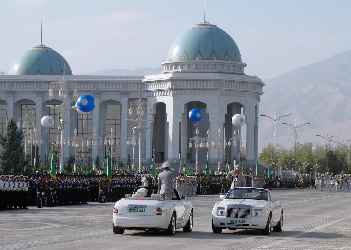Turkmenistan President Bans All Non-White Cars From Capital