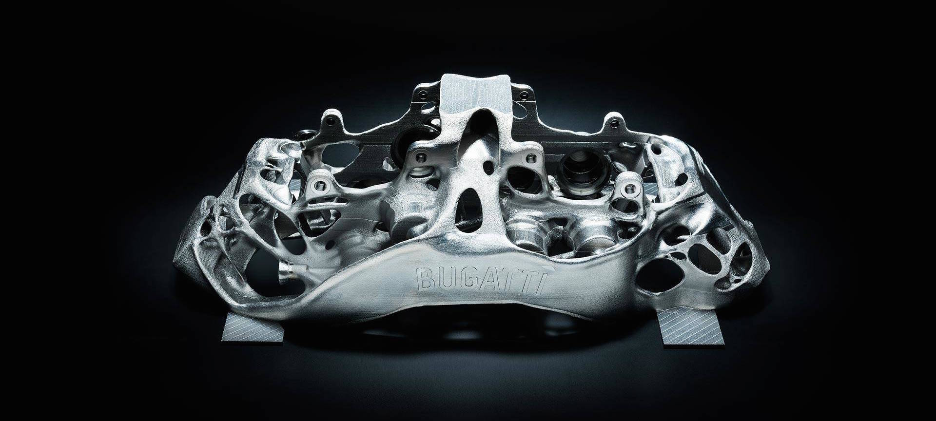Bugatti Creates First 3D-Printed Brake Caliper, Just 6.4 Pounds