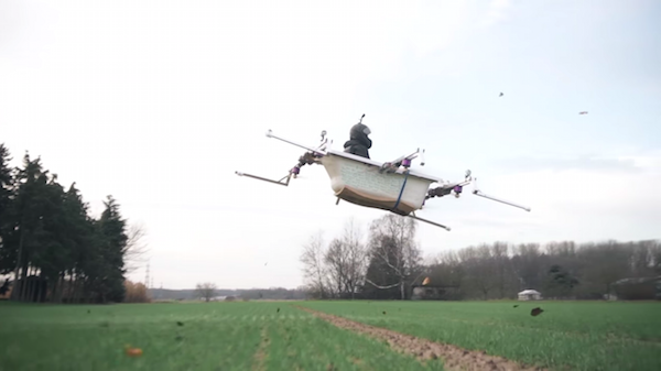German brothers build drone from a bathtub