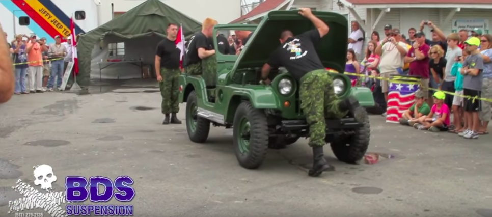 Watch a Jeep CJ get disassembled and reassembled in minutes
