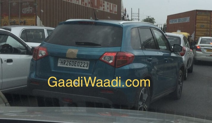 Suzuki Vitara spied testing in India