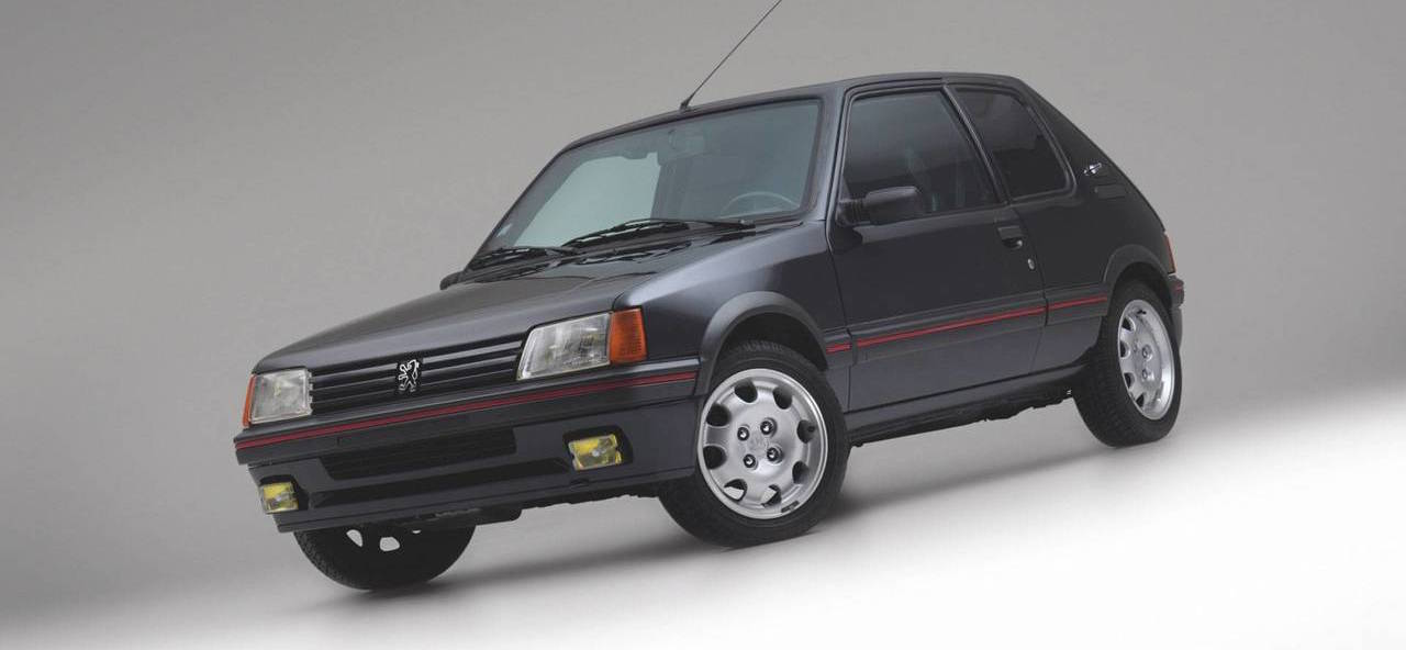 armored peugeot 205 gti is not your typical hot hatch. Black Bedroom Furniture Sets. Home Design Ideas