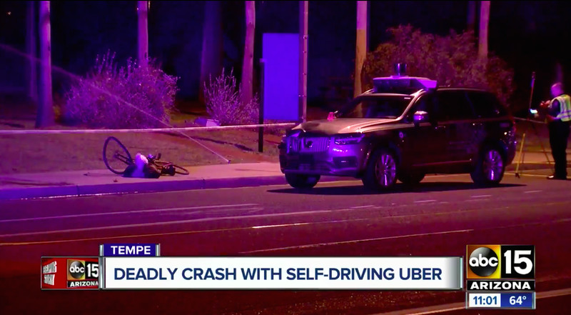 Uber's self-driving car showed no signs of slowing before fatal crash, police say