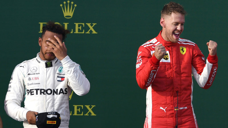 Vettel steals victory from Hamilton in Australian Grand Prix