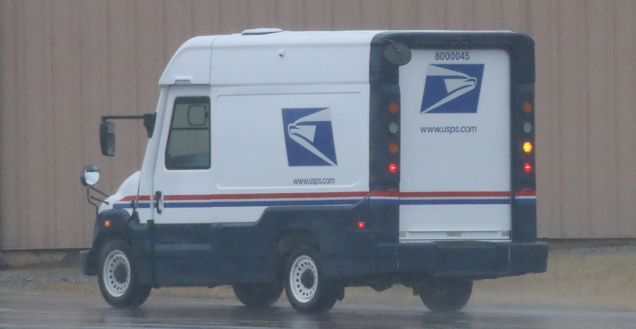 Mahindra USPS mail truck prototype spied testing