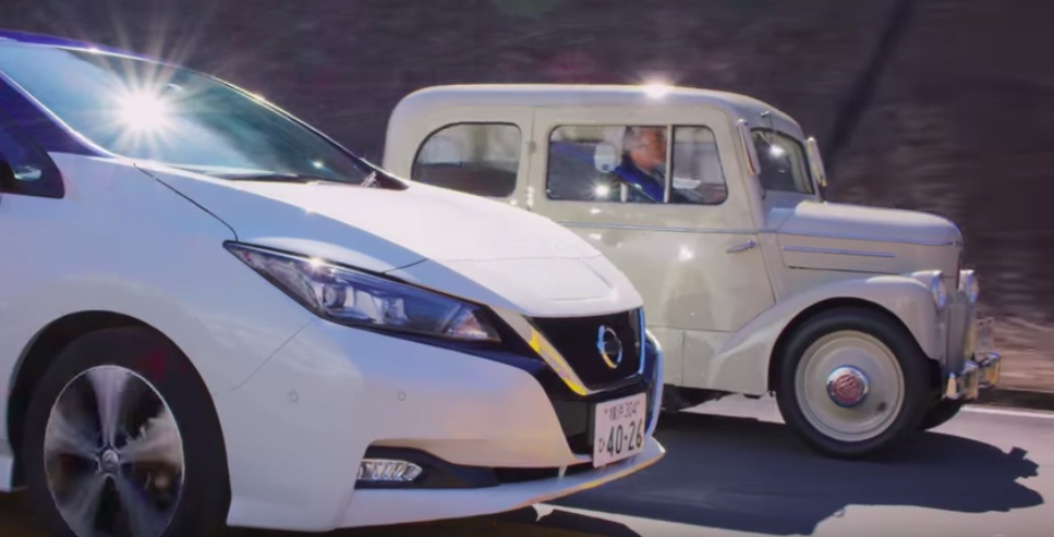 Watch Nissan's Oldest & Newest Electric Cars Run Side-By-Side