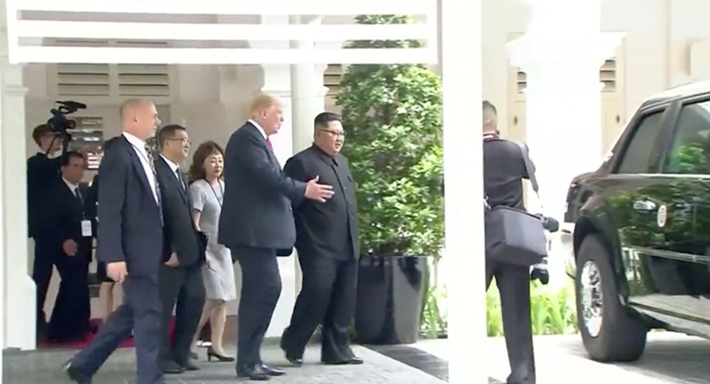 Watch President Trump and Kim Jong-Un Bond Over The Beast