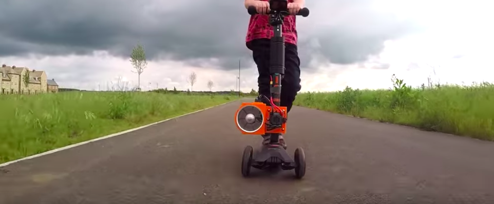 YouTube mad scientist Colin Furze builds fanjet scooter for 5-year-old son