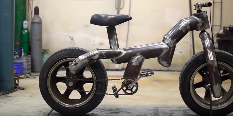 This Cool Homemade Bike Uses Car Rims And Wheels