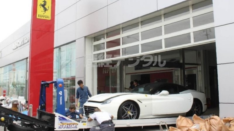 Typhoon Jebi destroys 51 Ferraris at dealership in Japan