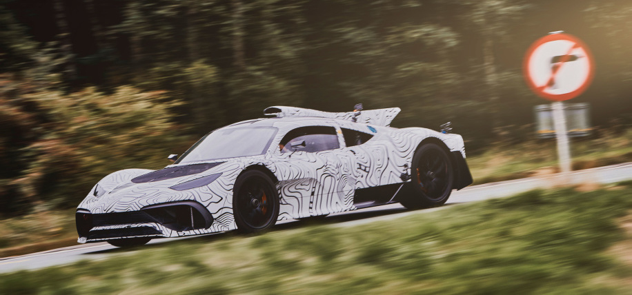 Mercedes-AMG Project One sports artistic camo during track testing
