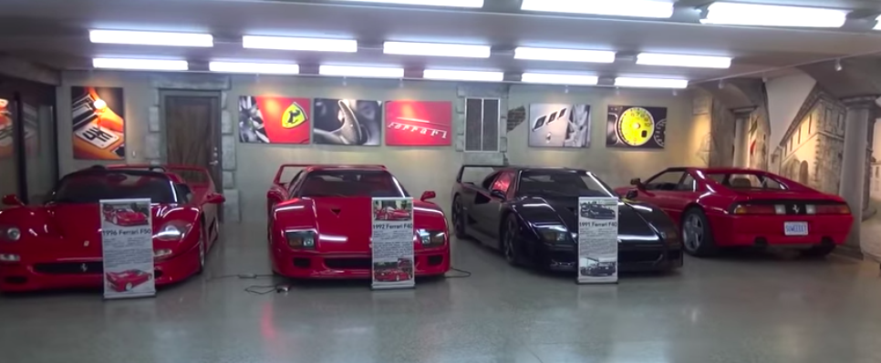Underground Garage Combines Ferrari Theme With American Muscle