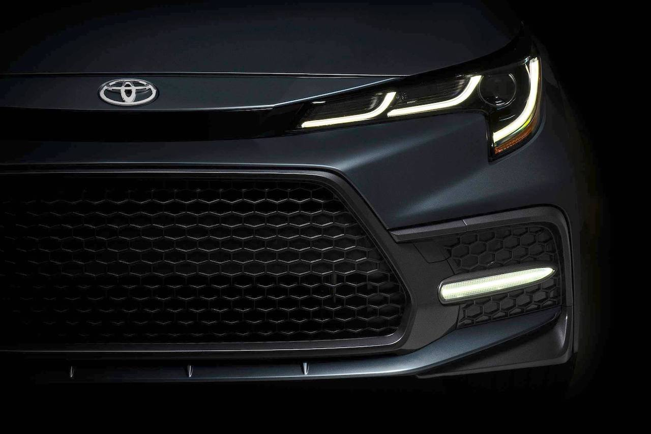 Here's the first look at the front of the 2020 Toyota Corolla Altis