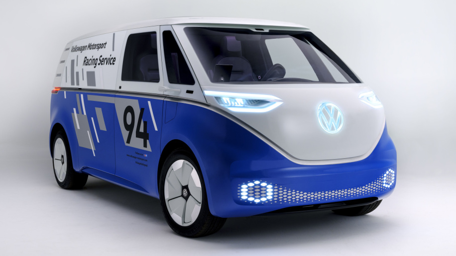 VW I.D. Buzz Cargo puts on racing suit for L.A.; Cargo e-Bike coming