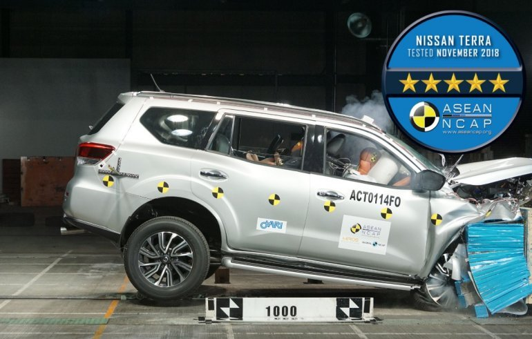 Nissan Terra gets 5-star safety rating from ASEAN NCAP