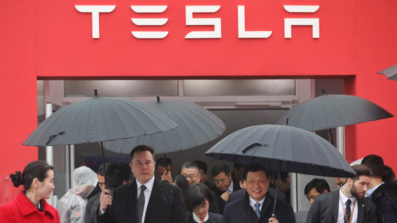 Tesla CEO Elon Musk breaks ground on Shanghai Gigafactory