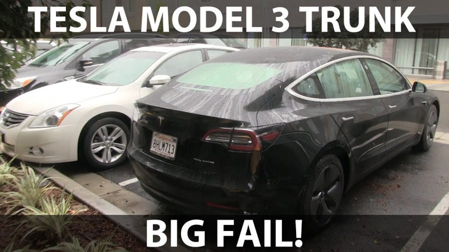 Opening Tesla Model 3 Trunk In Rain Is Not Advised