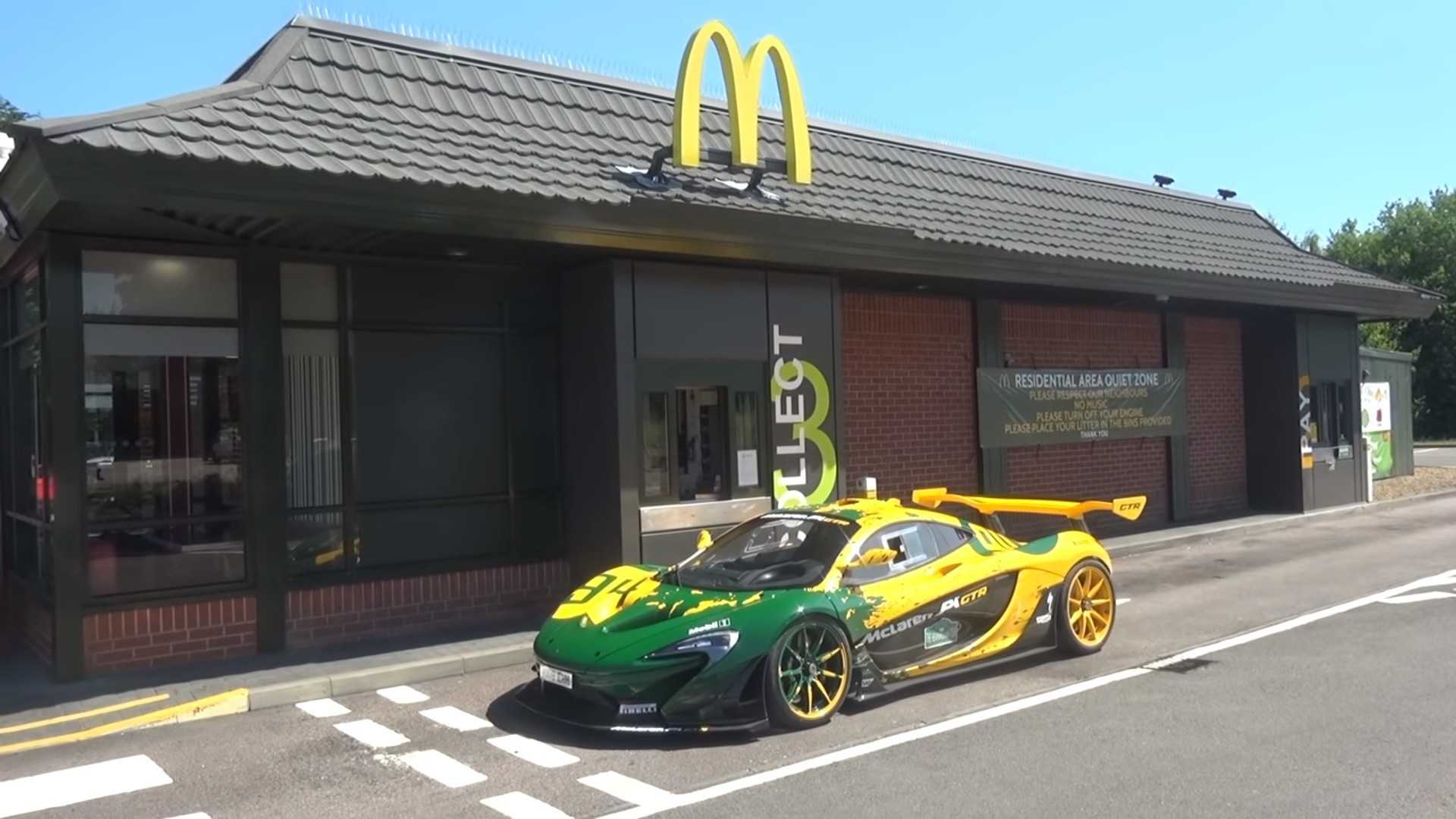 Watch Road-Legal McLaren P1 GTR Grab A Bite At McDonald's