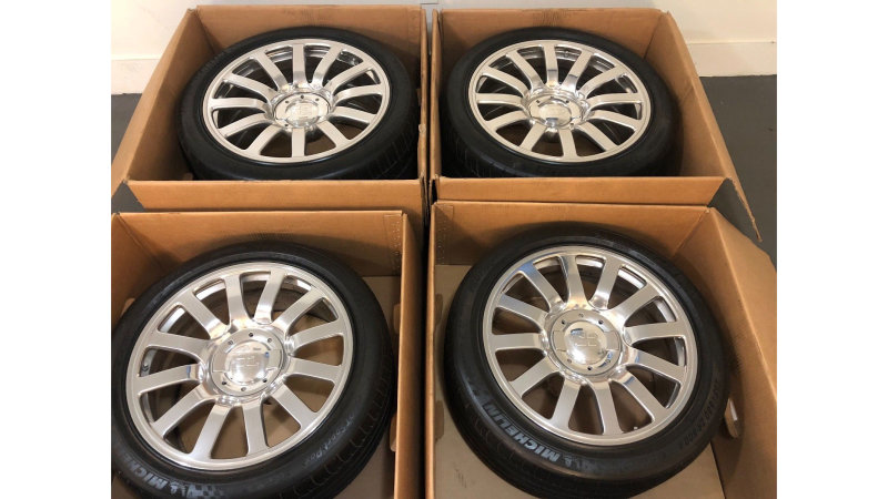 Bugatti Veyron used wheels and tires for sale on eBay for $100,000
