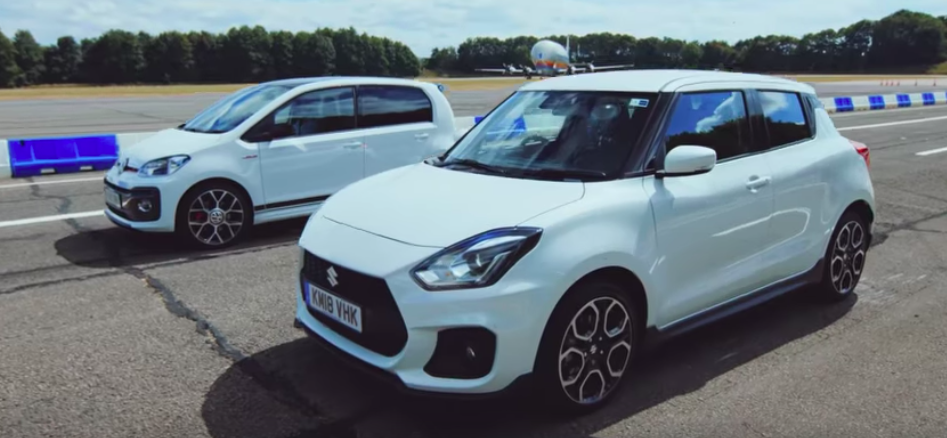 Suzuki Swift Sport Vs. VW Up! GTI Is A 251-HP Drag Race