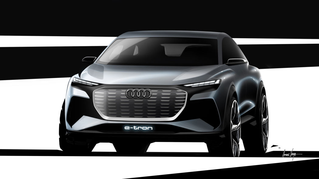 Audi teases Q4 E-Tron electric compact crossover ahead of Geneva