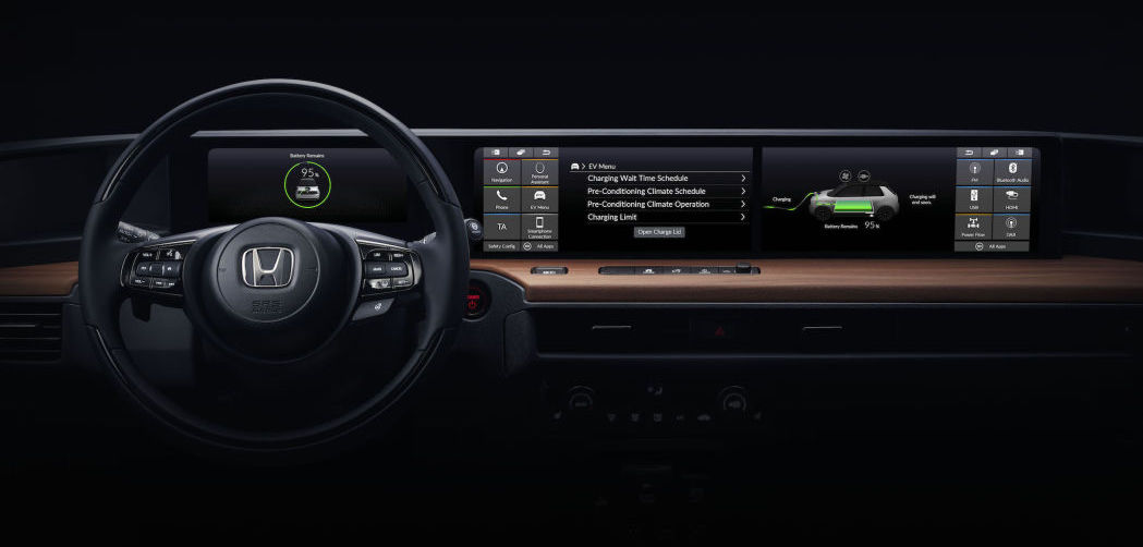 Honda shows Urban EV prototype dashboard and profile