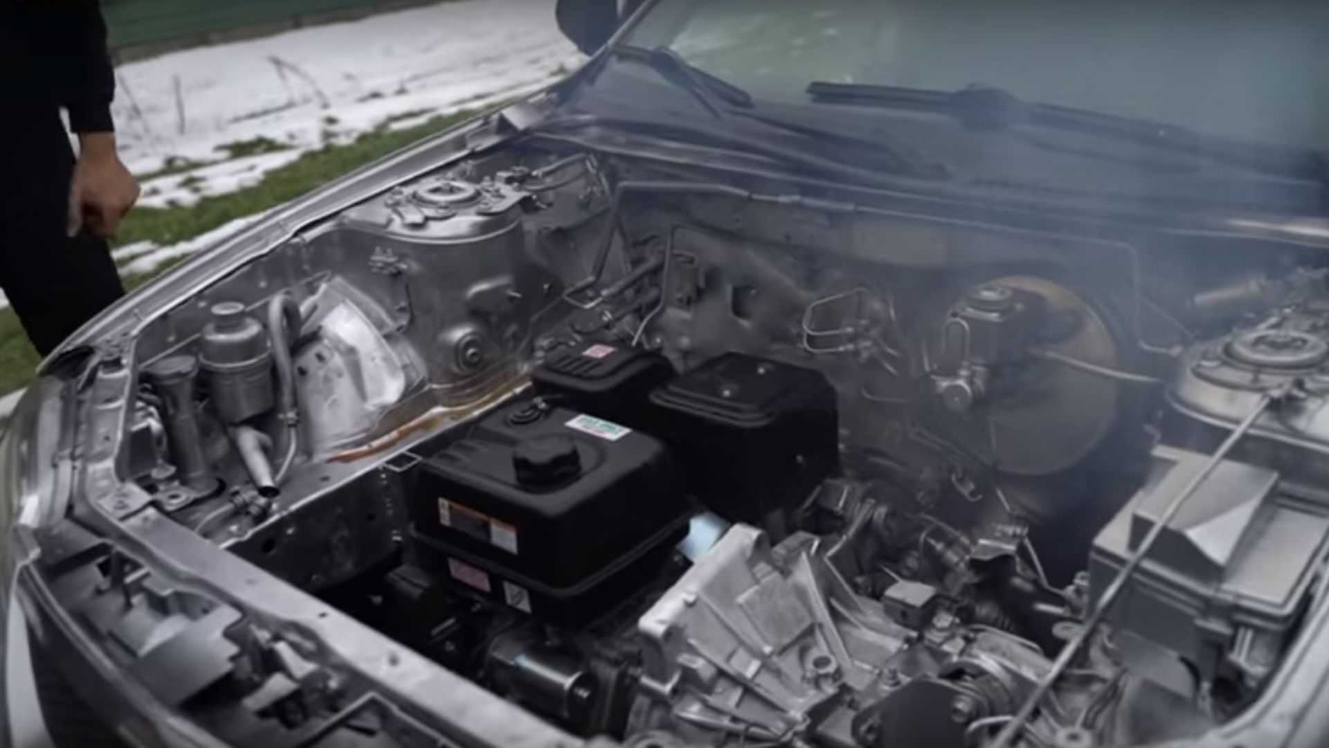 Crazy Guys Swap Lawnmower Engine Into Mazda Protege