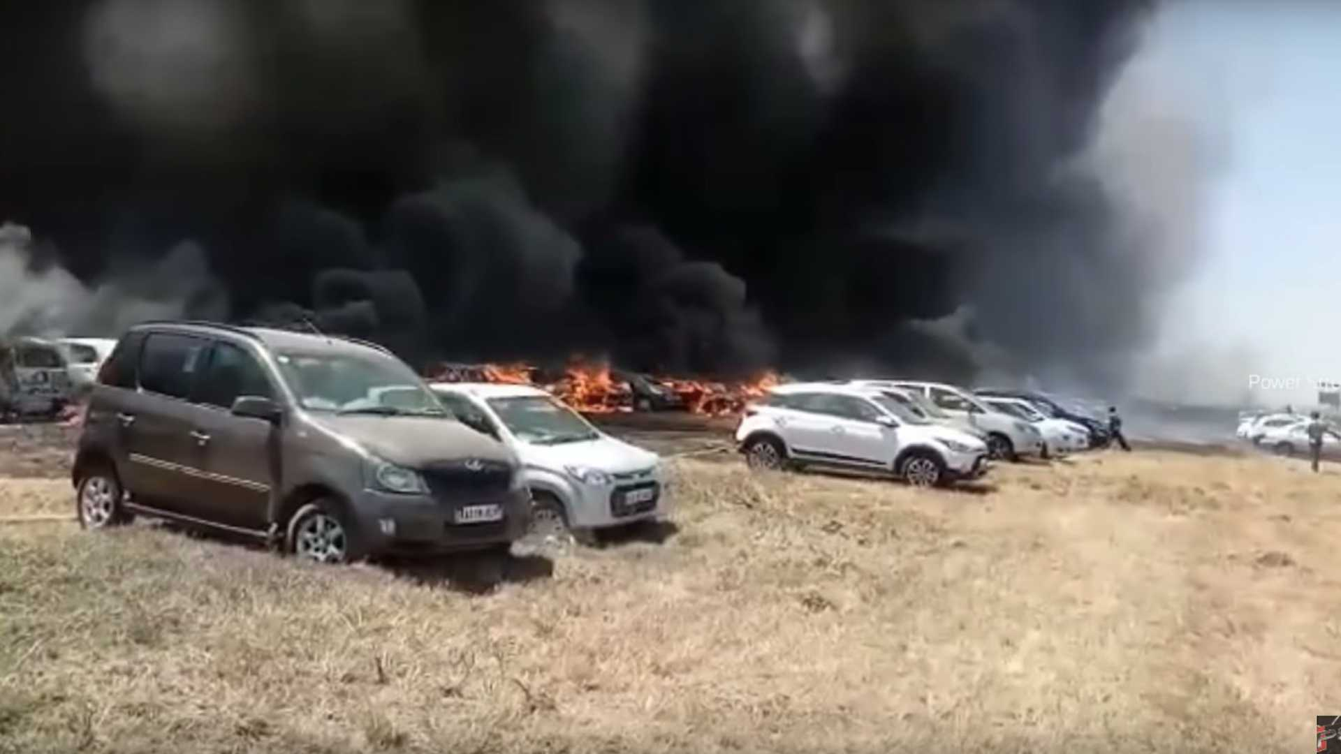 Massive Fire Takes Out More Than 300 Cars In India
