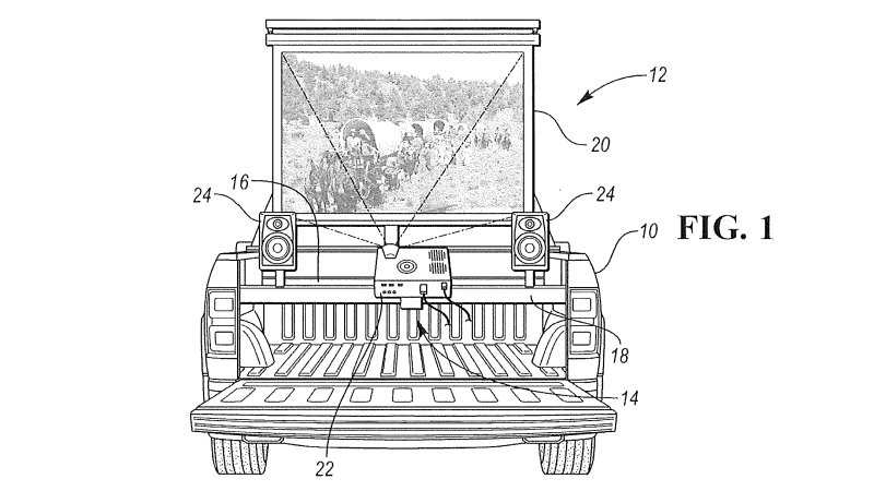 Patent turns your pickup bed into a Ford theater