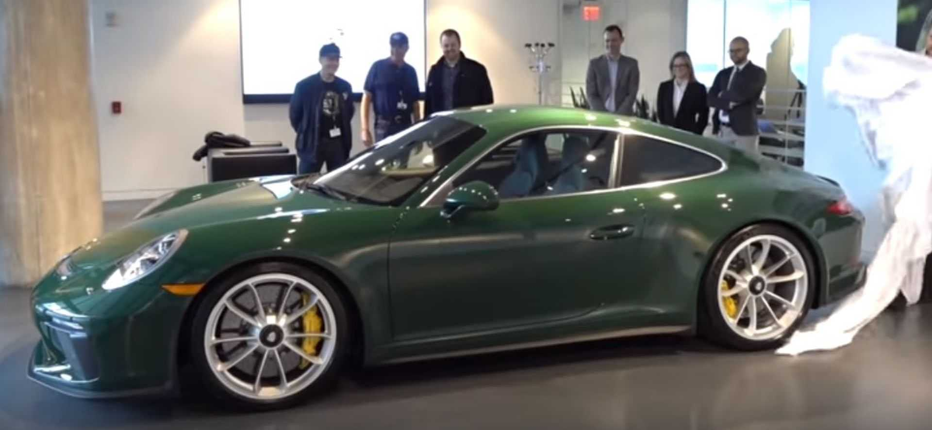 Porsche 911 GT3 Touring In British Racing Green With Wood Trim