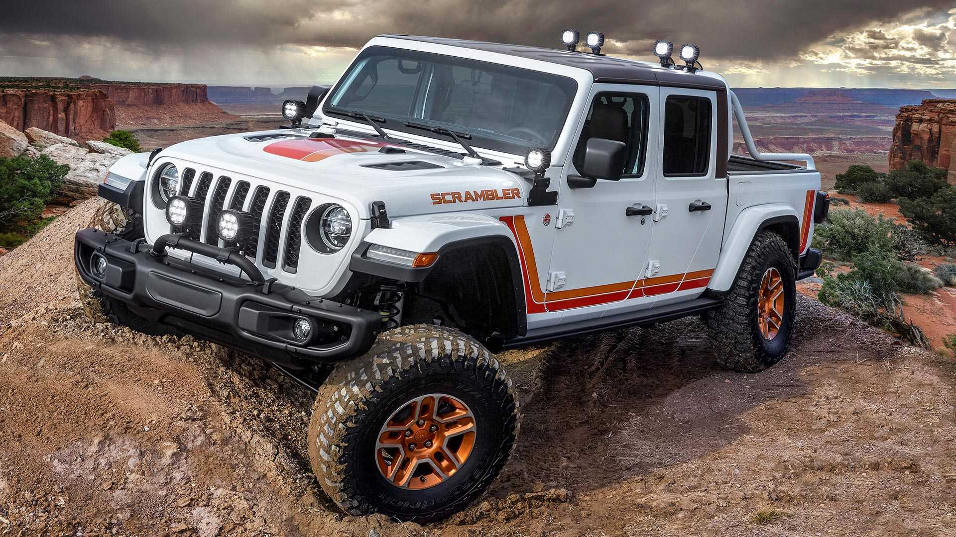 Jeep Gladiator JT Scrambler Concept Takes A Stroll Off-Road