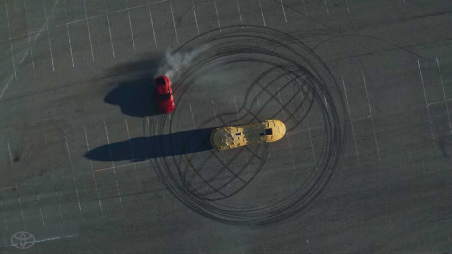 Toyota Supra Takes On Mr. Peanut In Absolutely Nuts Race