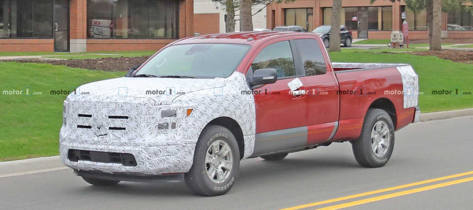 Nissan Titan Facelift Spied For First Time Disguised As An F-150