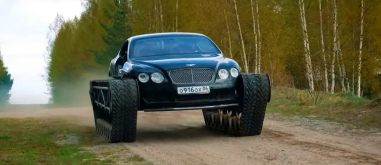 Bentley Continental GT On Tracks Is World's Most Luxurious Tank