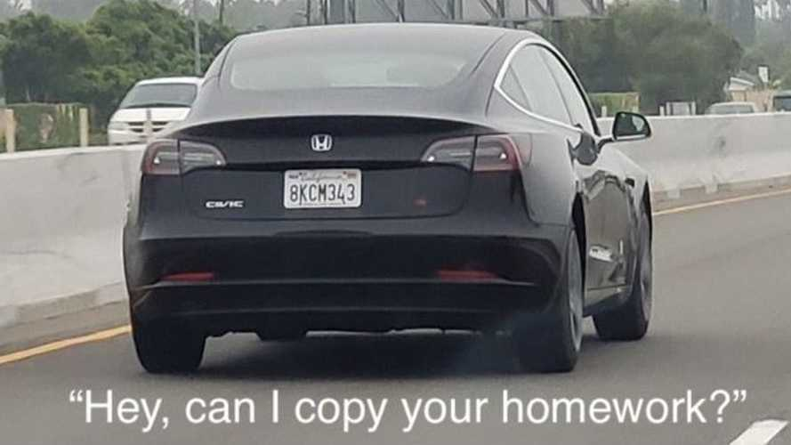This Honda Civic Si Is Actually A Tesla Model 3