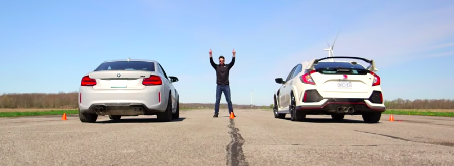 BMW M2 Competition Vs Honda Civic Type R In Unlikely Drag Race