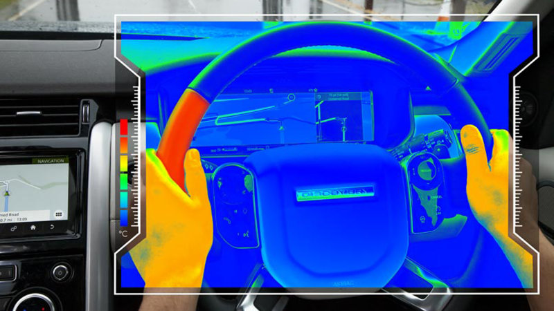 JLR developed a temperature-changing steering wheel to help prevent distracted driving