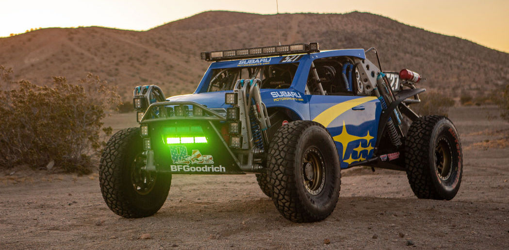 Subaru Crosstrek Baja Racer is a glorious blue and gold liveried masterpiece
