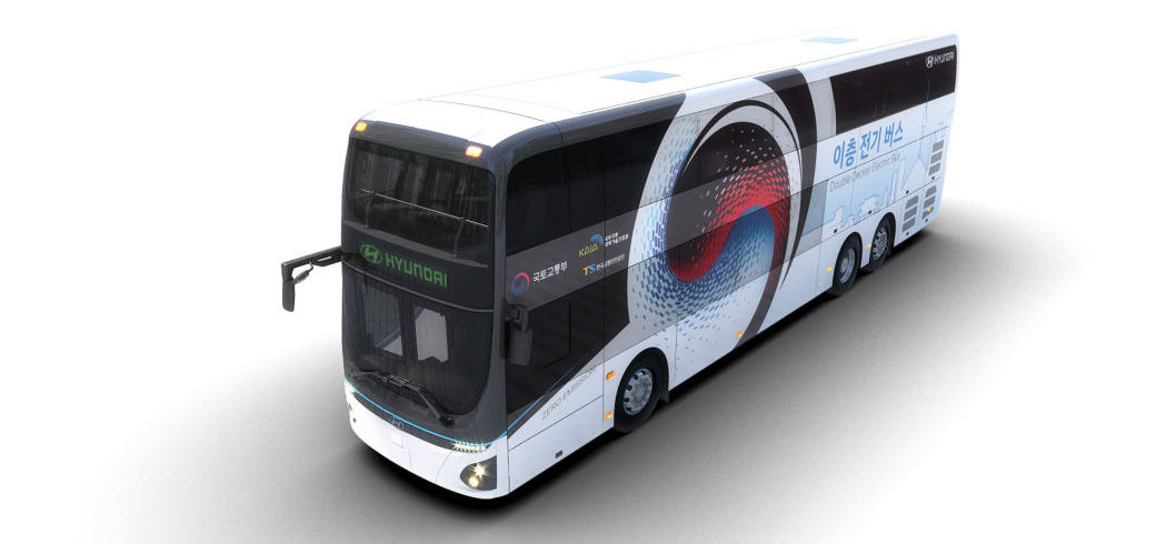 Hyundai double-decker bus is all-electric — with a 384 kWh battery pack