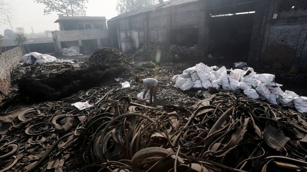 Burning tires: the murky oil business polluting parts of Asia