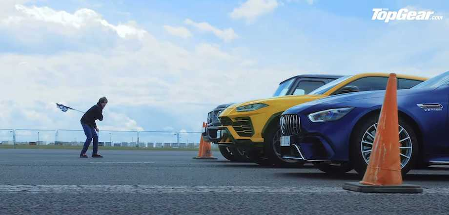 Crazy Top Gear Drag Race Pits Urus Against Mercedes-AMG G63, GT 4-Door