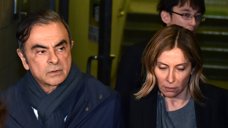 Carlos Ghosn's wife appeals to President Trump to help her husband