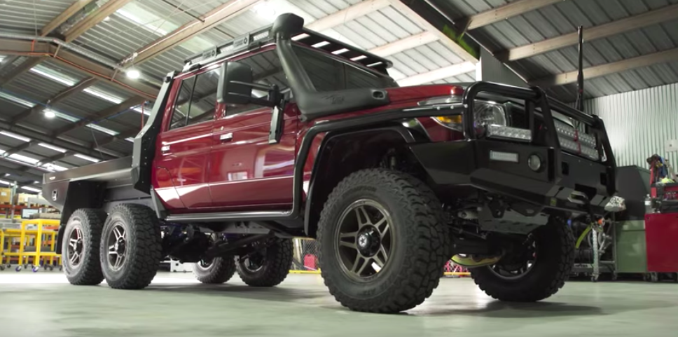 6x6 Toyota Land Cruiser Showcases Its Ridiculousness On Video