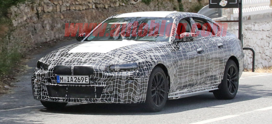 BMW i4 sedan spied hot-weather testing in Europe