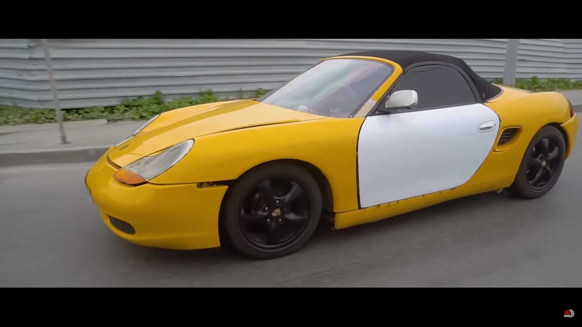 This Yellow Porsche Boxster Is Actually A ... Lada?